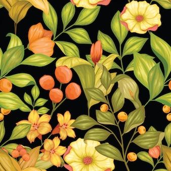 Fabuloso colorido floral transparente