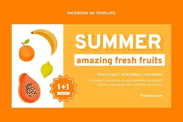 Facebook de comida sana plana