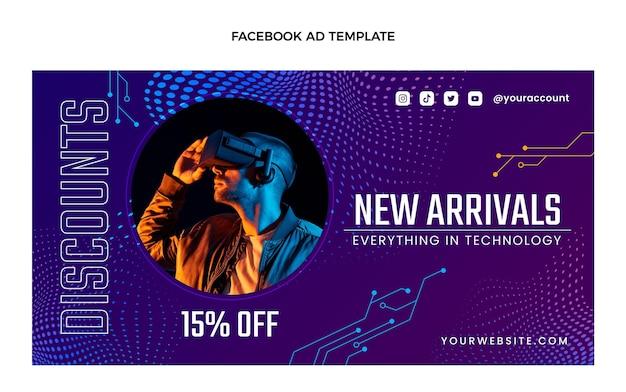 Facebook de tecnología de semitono degradado