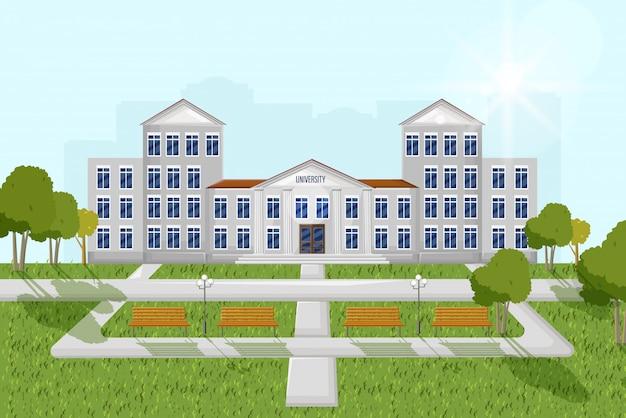 Fachada arquitectonica universidad
