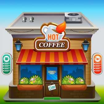 Fachada de cafetería