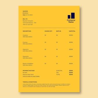 Factura de construcción de servicios de electricidad de duotone simple wanda