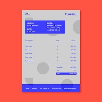 Factura de marketing moderna minimalista