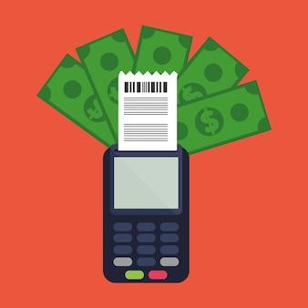 Facturas de dispositivos de pago de dataphone