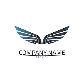 Falcon wings logo template icon app de diseño de logotipos