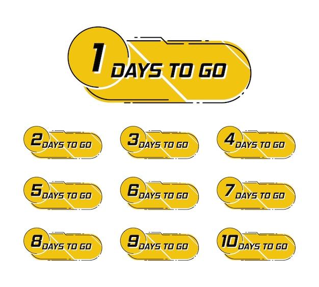 Faltan cuatro días. banner para negocios, marketing y publicidad. mejor oferta símbolo vector illustretion.