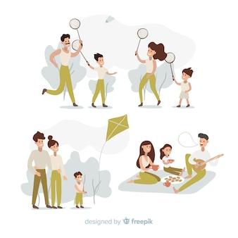 Familia al aire libre