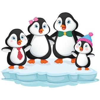 Familia de dibujos animados penguin