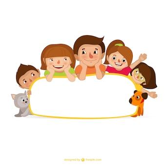 Familia de dibujos animados
