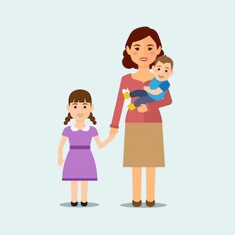 Familia feliz aislado