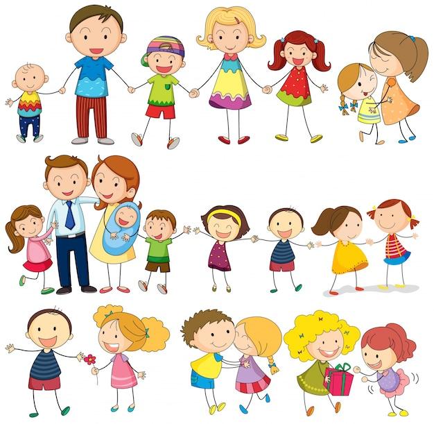 Dibujos Animados De Familias Fotos Y Vectores Gratis