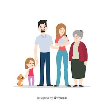 Familia feliz posando