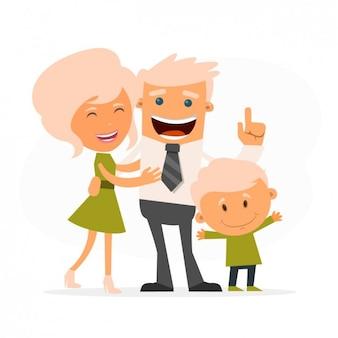 Familia feliz de rubios