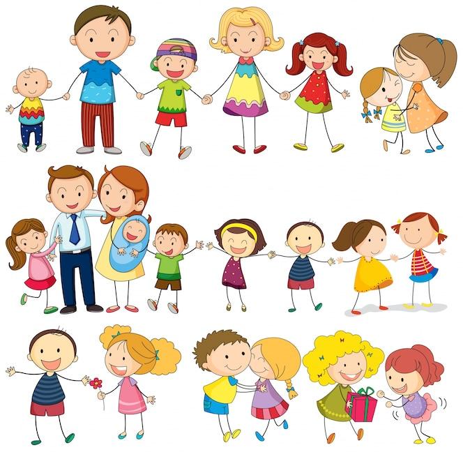 Familia feliz y amorosa