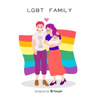 Familia lgbt del día del orgullo