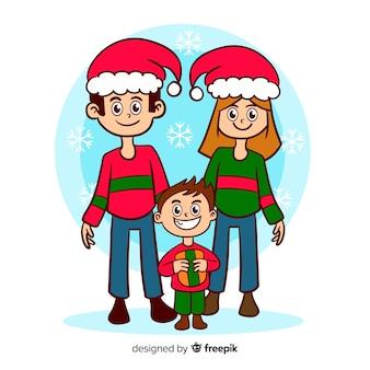 Familia navideña