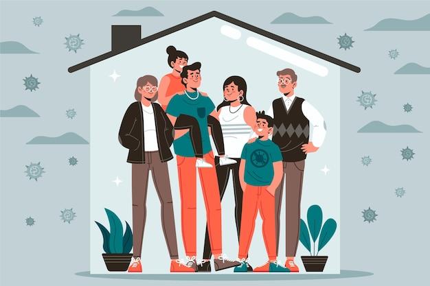 Familia protegida del virus