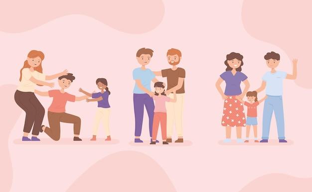 Familias con hijos adoptados