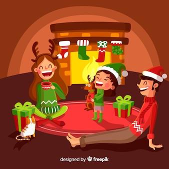 Famlia en navidad