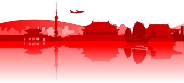 Famosos edificios y monumentos en el este de asia