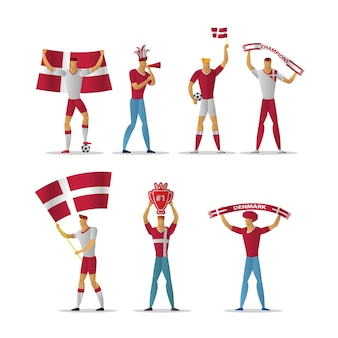 Fanáticos del fútbol de dinamarca