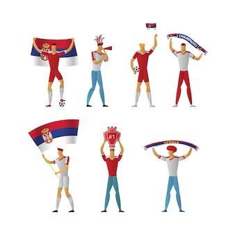 Fanáticos del fútbol de serbia fútbol alegre