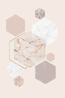 Fancy tarjeta de mármol con dibujos