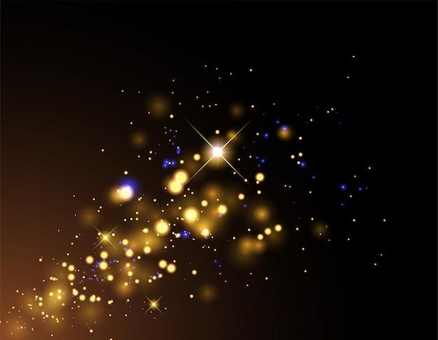 Fantasía dorada explosión