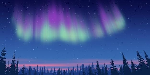 Fantasía sobre el tema del paisaje del norte.