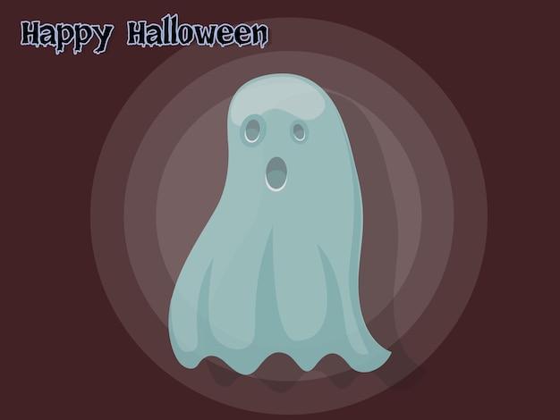 Fantasma, caricatura, vector, halloween, en, fondo., vector, illustration.