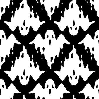 Fantasma espeluznante halloween de patrones sin fisuras