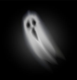 Fantasma de halloween abrió boca aislado vector