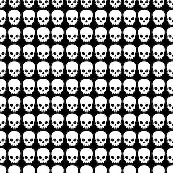 Fantasma de halloween de patrones sin fisuras de cráneo