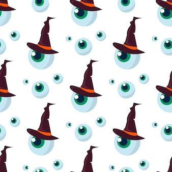 Fantasma de halloween de patrones sin fisuras de miedo.