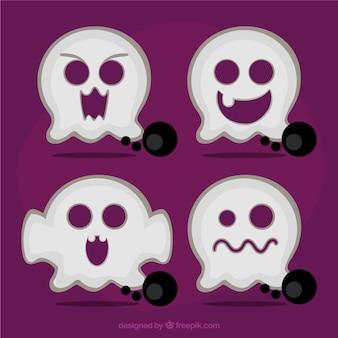Fantasmas lindos de halloween