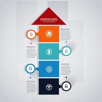 Fantástica plantilla de infografía