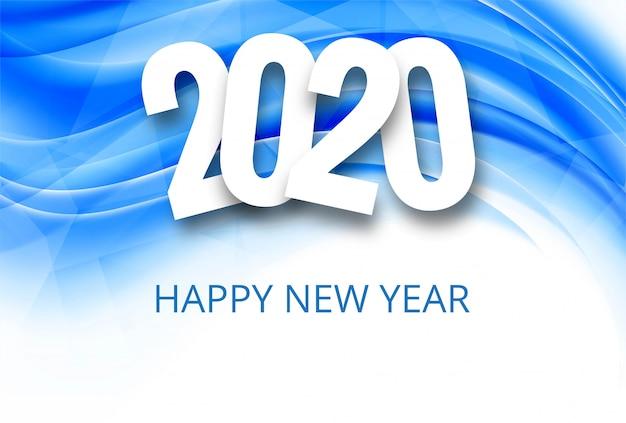 Fantástico fondo de celebración de texto de año nuevo 2020