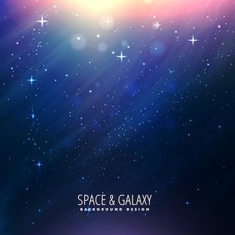 Fantástico fondo de la galaxia con luces