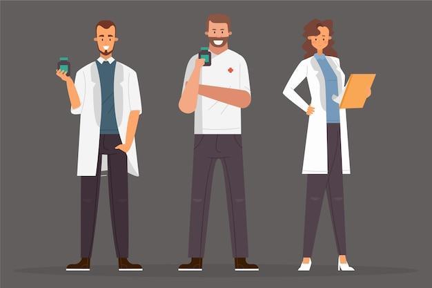 Farmacéutico personas dispuestas a ayudar
