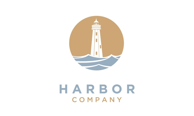 Faro / diseño del logotipo de searchlight