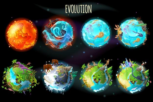 Fases de la evolución de la tierra