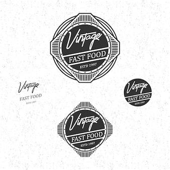 Fast food vintage logo