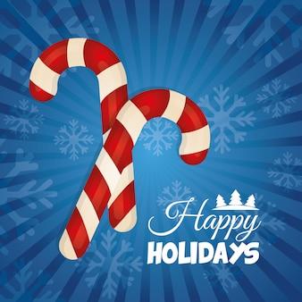 Felices fiestas y feliz navidad diseño de tarjetas.
