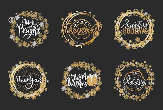 Felices fiestas, mis mejores deseos feliz navidad brillante