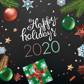 Felices fiestas tarjeta 2020
