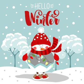 Felices fiestas tarjeta de felicitación. hola invierno. letras de navidad y año nuevo. impresión en tela, papel, postales, invitaciones.
