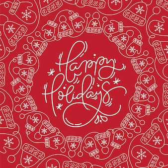 Felices fiestas vector de letras