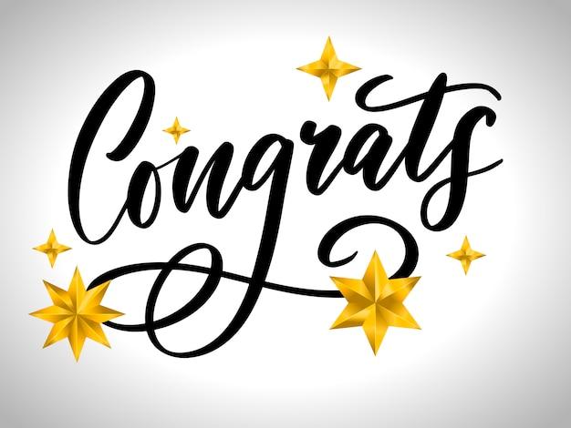 Felicidades felicitaciones tarjeta letras caligrafía texto pincel