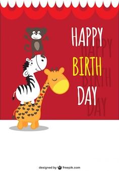 Felicitación de cumpleaños con animales