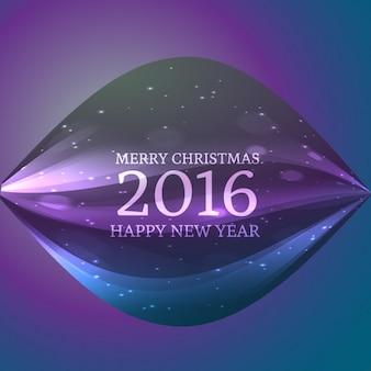 Felicitación de feliz navidad y año nuevo